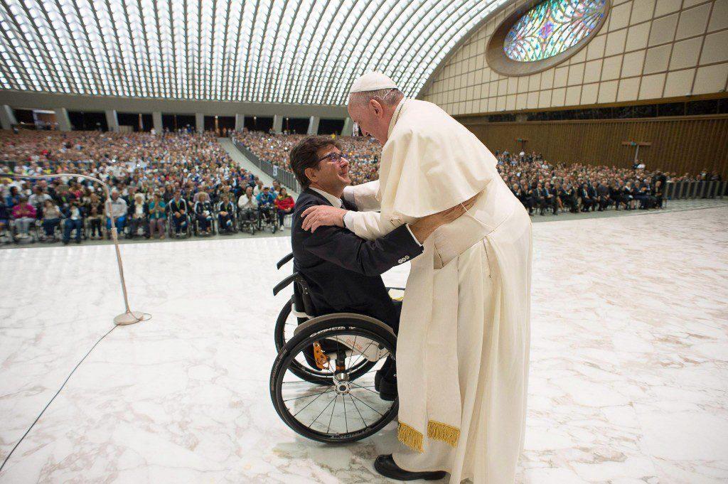 El Papa Francisco con atletas paralímpicos