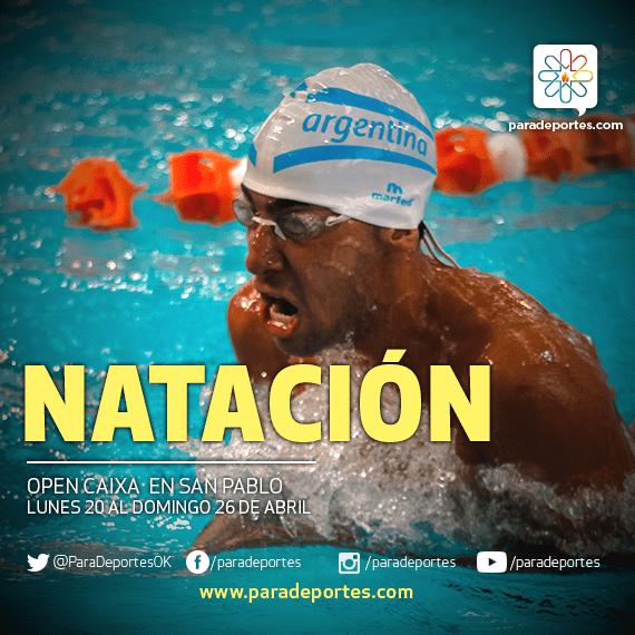 Natación: Argentina, presente en el Caixa de Brasil