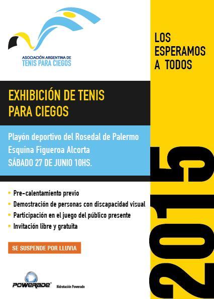 Tenis para ciegos: Exhibición gratuita en Palermo