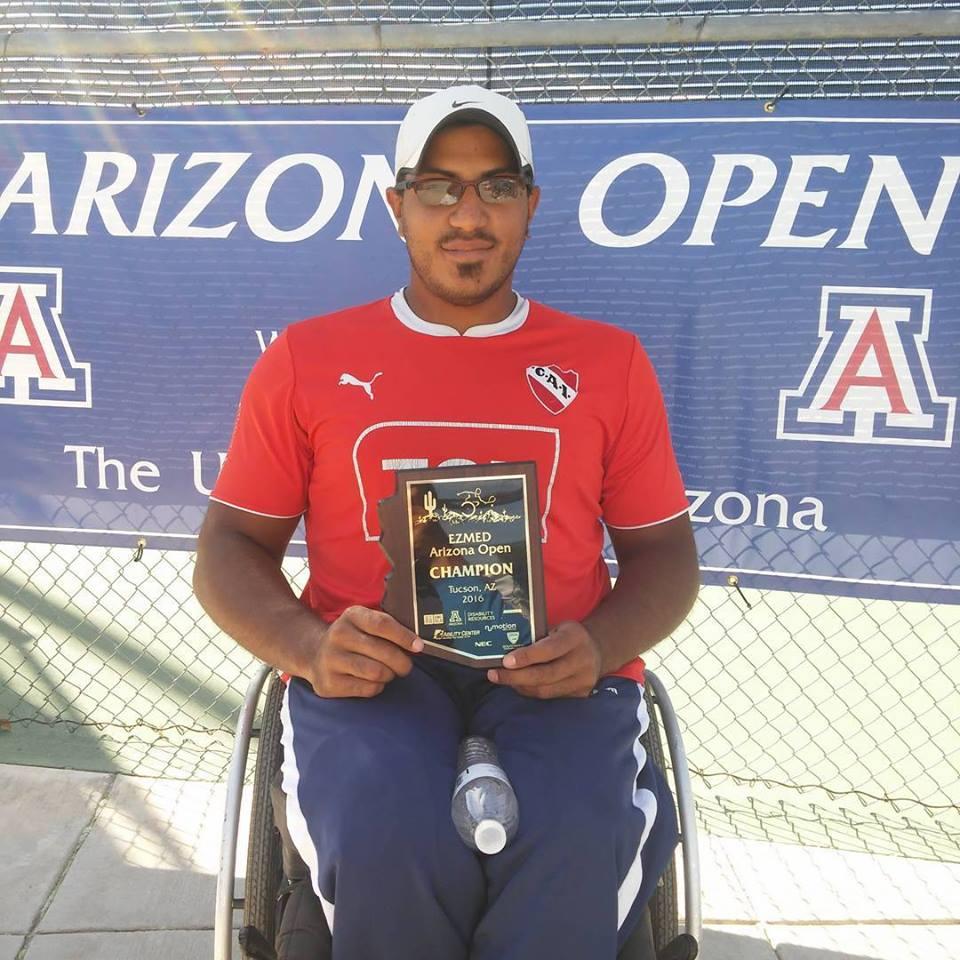 Tenis adaptado: Agustín Ledesma y una vuelta a todo ritmo