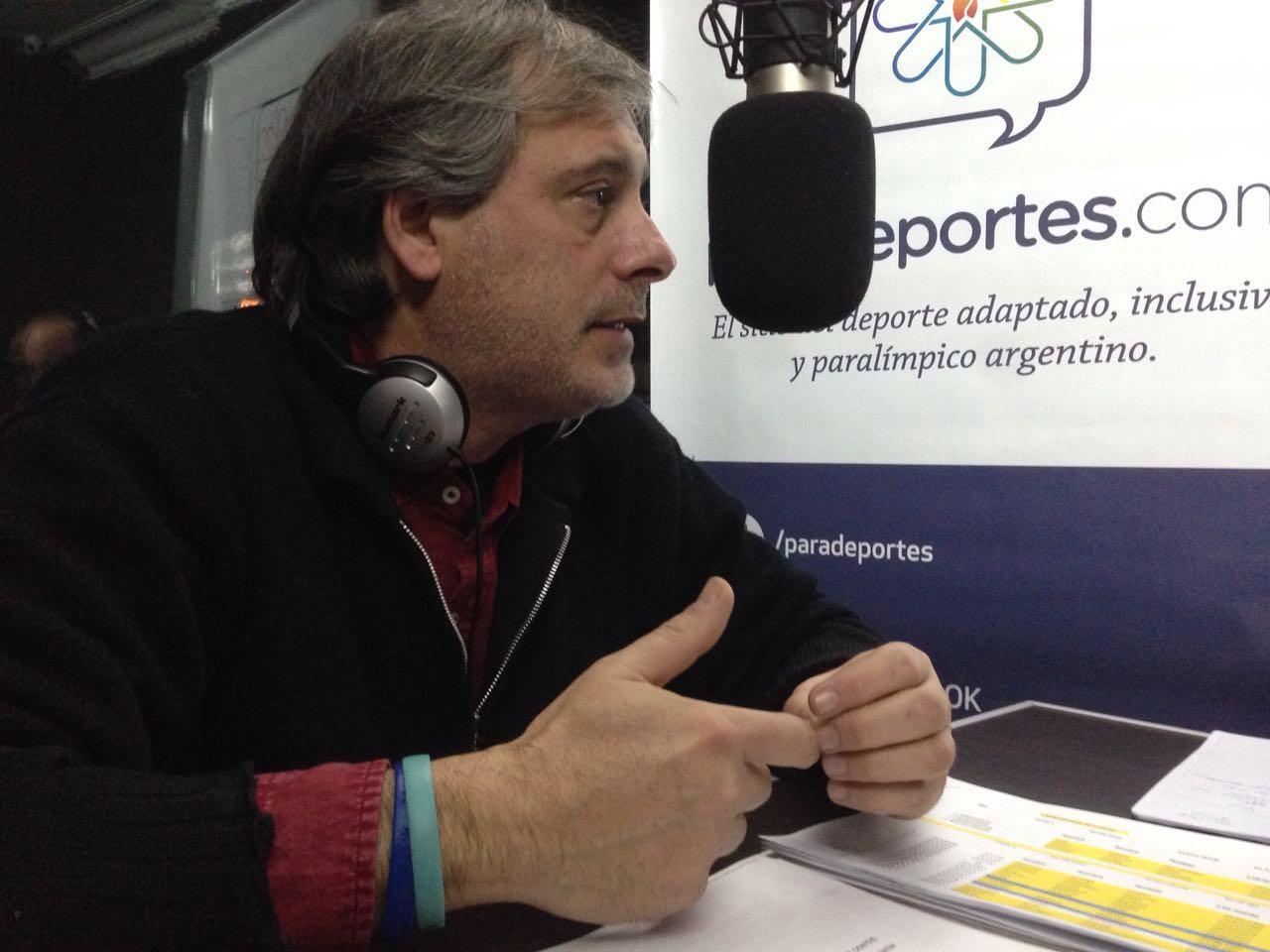 """Ricardo Cristofani en Paradeportes Radio: """"Preparamos todo para que los atletas sólo tengan que ocuparse de su deporte"""""""