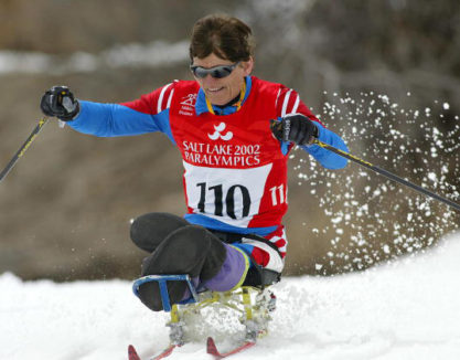 Ragnhild Myklebust of Norway ski's down a hill dur
