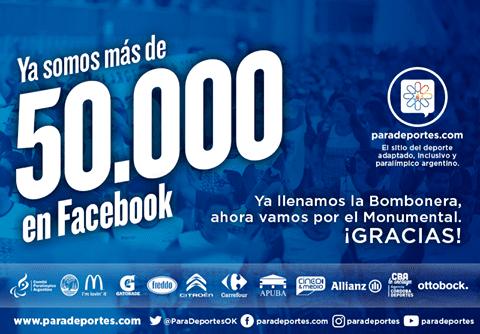 Paradeportes está en Río y superó los50.000 fans en Facebook