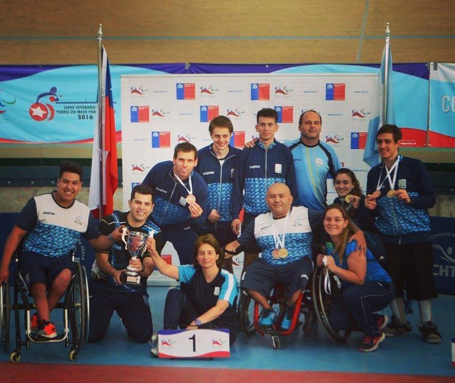 Tenis de mesa adaptado: Argentina, primer puesto en el Open Chile