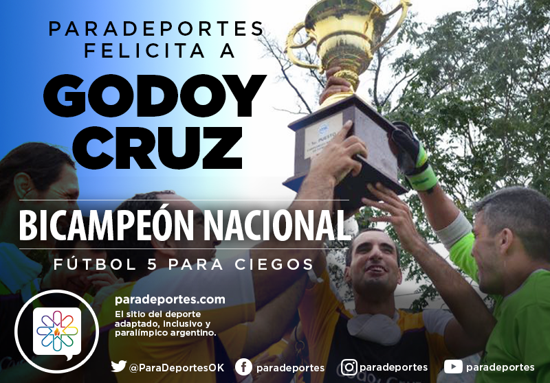 Fútbol para ciegos: Godoy Cruz, bicampeón nacional