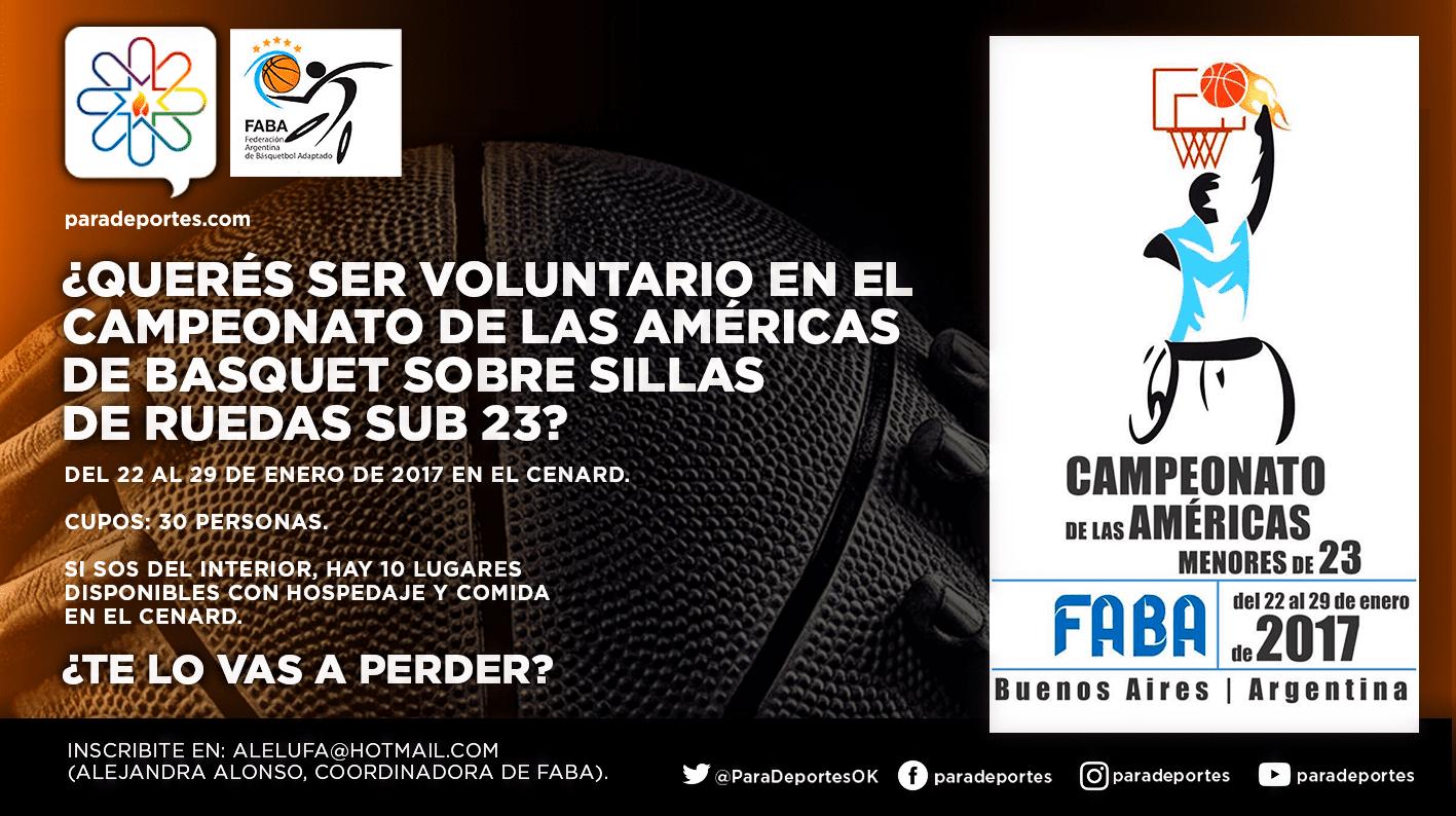 ¡Sumate como voluntario para el torneo Sub 23 de básquet en el CENARD!