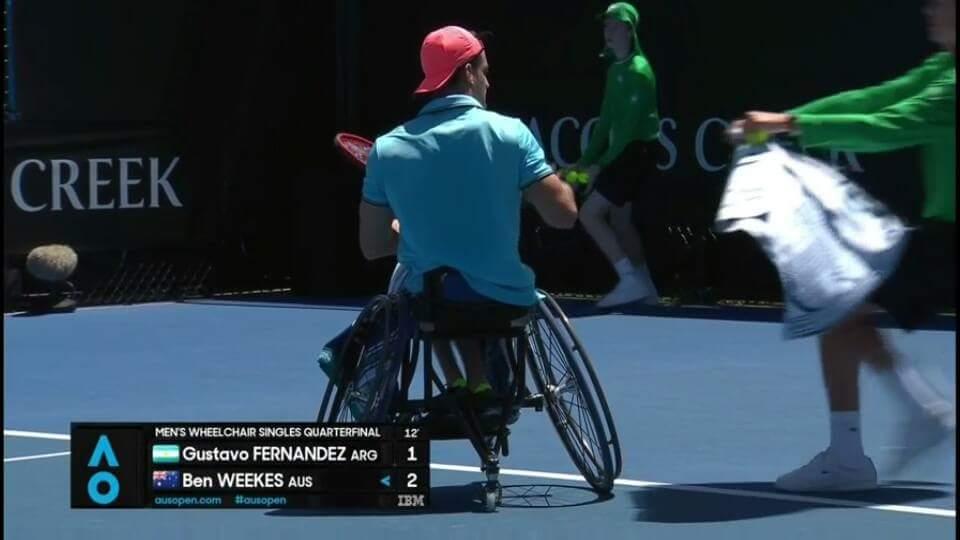 Tenis adaptado: Gustavo Fernández, en semifinales del Abierto de Australia