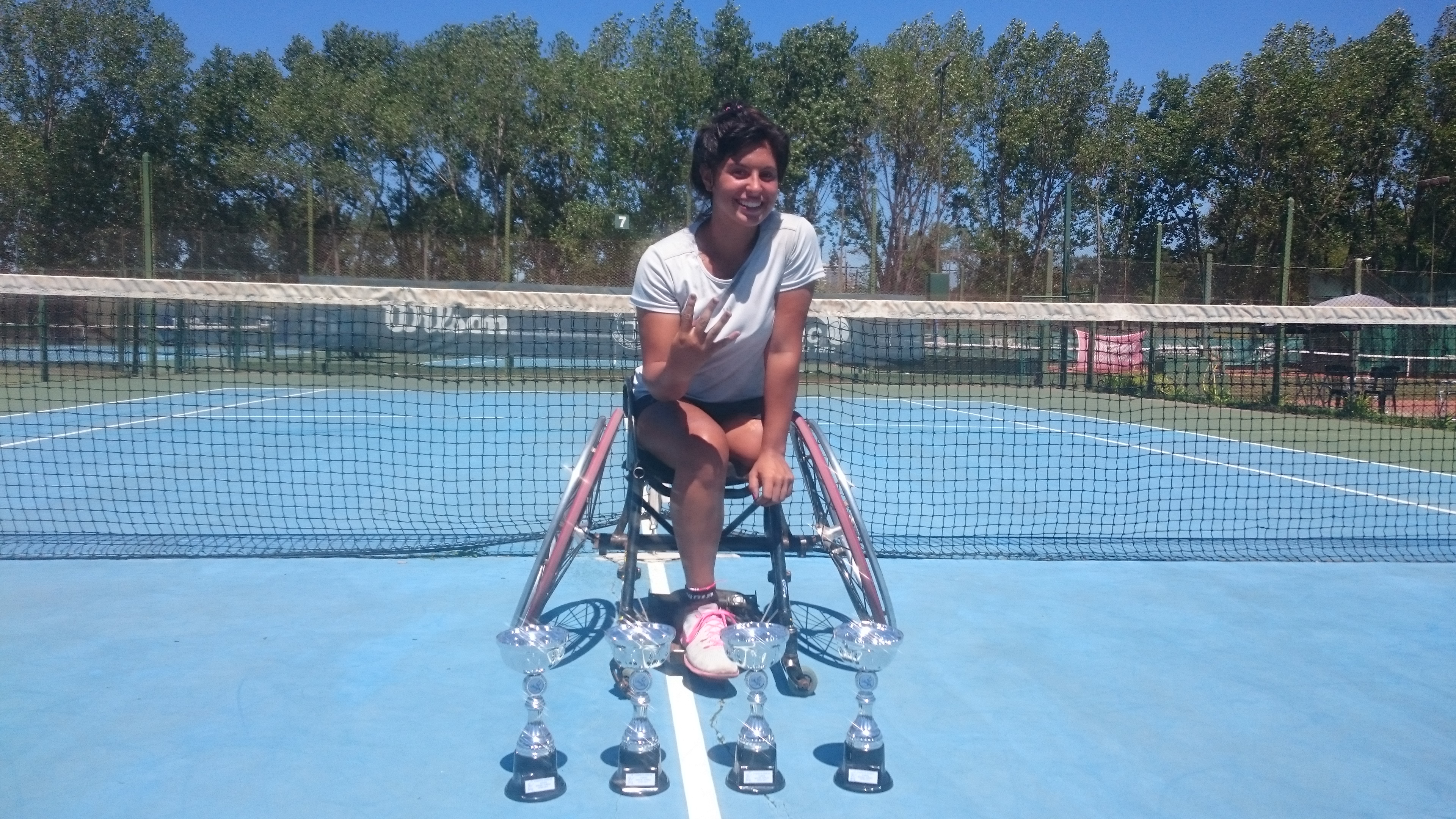 Tenis adaptado: Antonella Pralong, cuatro veces campeona en el Zúñiga