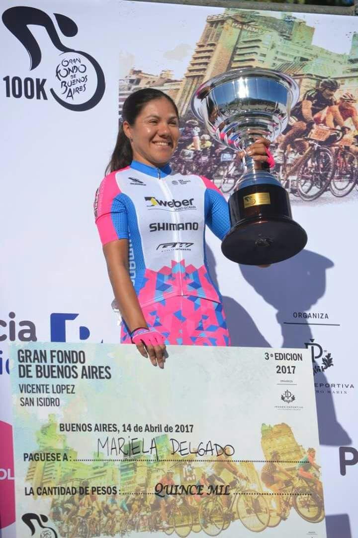 Paraciclismo: Mariela Delgado, campeona de un torneo convencional