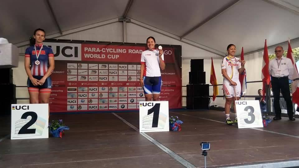 Paraciclismo: Mariela Delgado, campeona de la Copa del Mundo de Italia