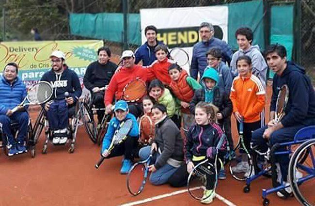 Tenis adaptado: Exhibición en General Las Heras