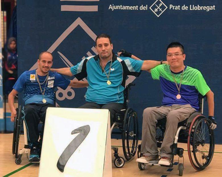 Tenis de mesa adaptado: exitosa gira europea de Bustamante