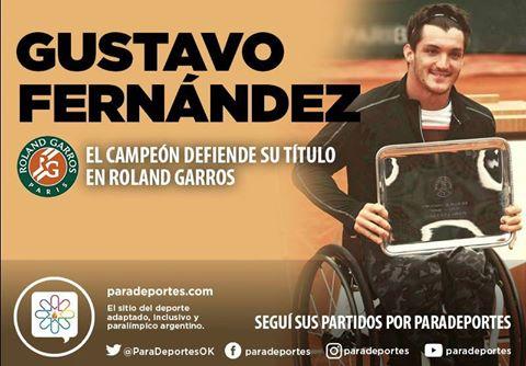 Tenis adaptado: Gustavo Fernández defiende su título en Roland Garros