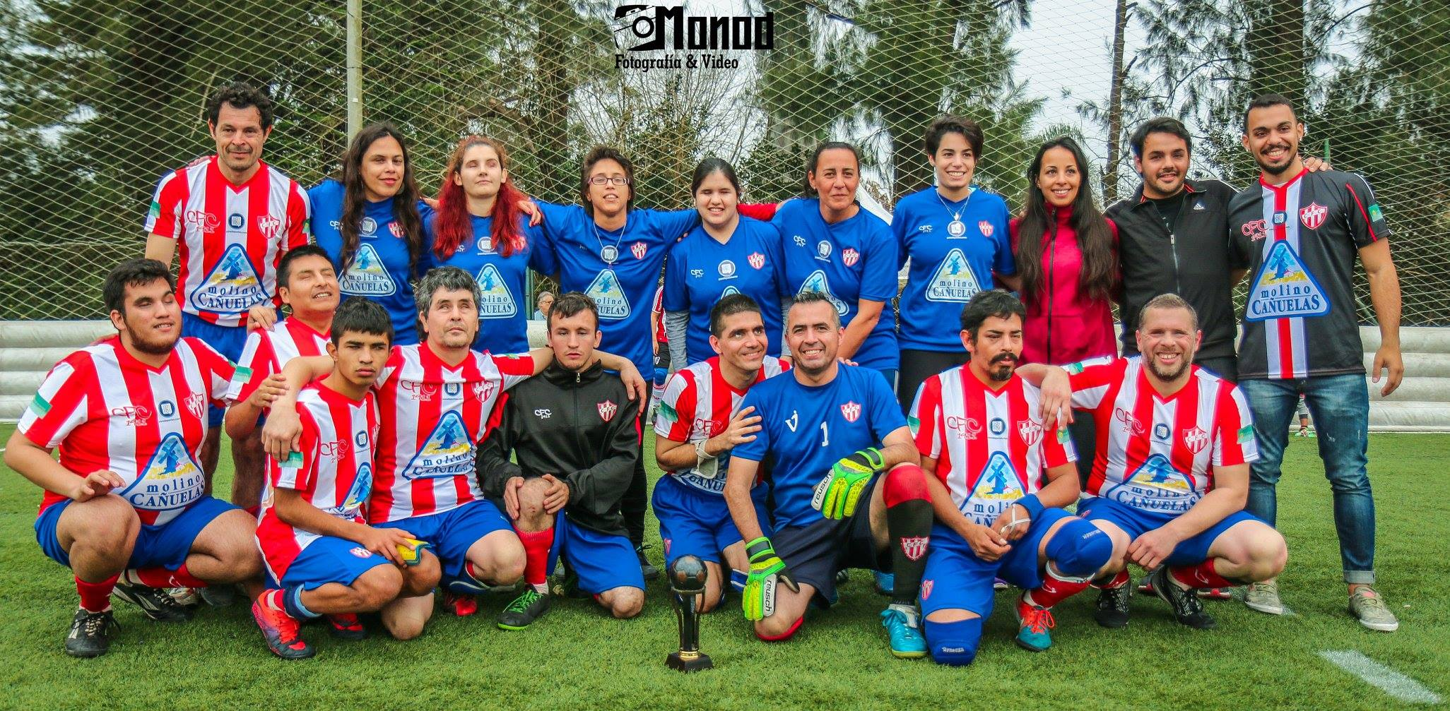 Paradeportes Cañuelas FC presentó su equipo femenino de fútbol para ciegos