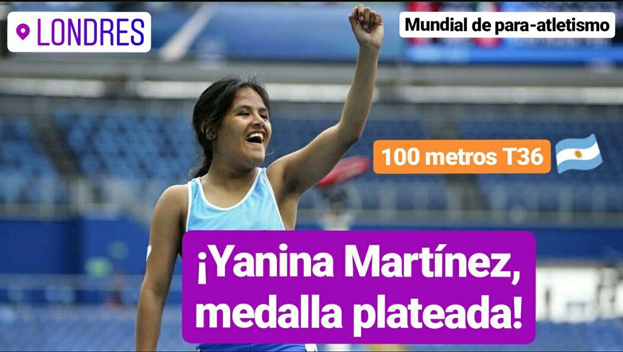 Londres 2017: ¡Yanina Martínez, medalla plateada en los 100 metros!