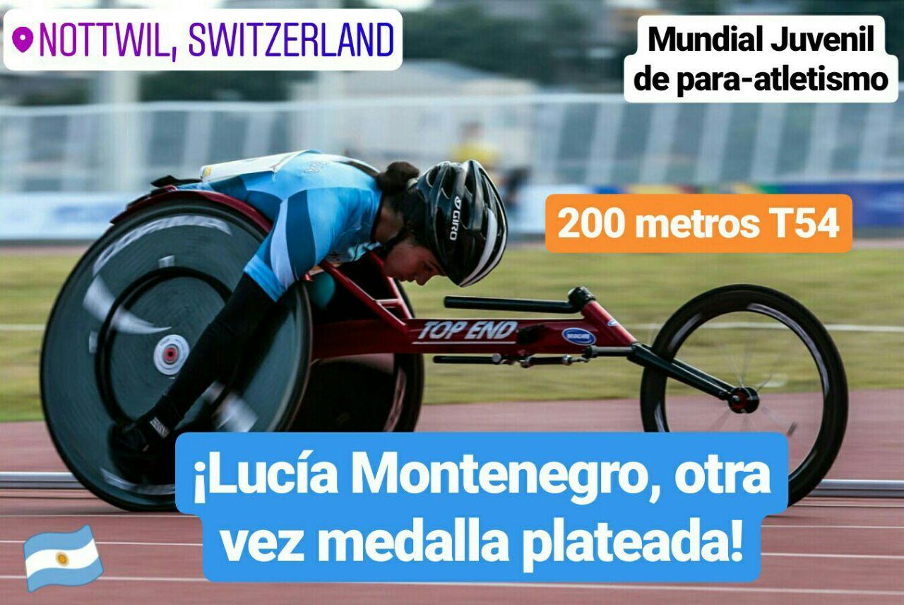 Mundial Juvenil de para-atletismo: ¡Lucía Montenegro, otra vez medalla plateada!