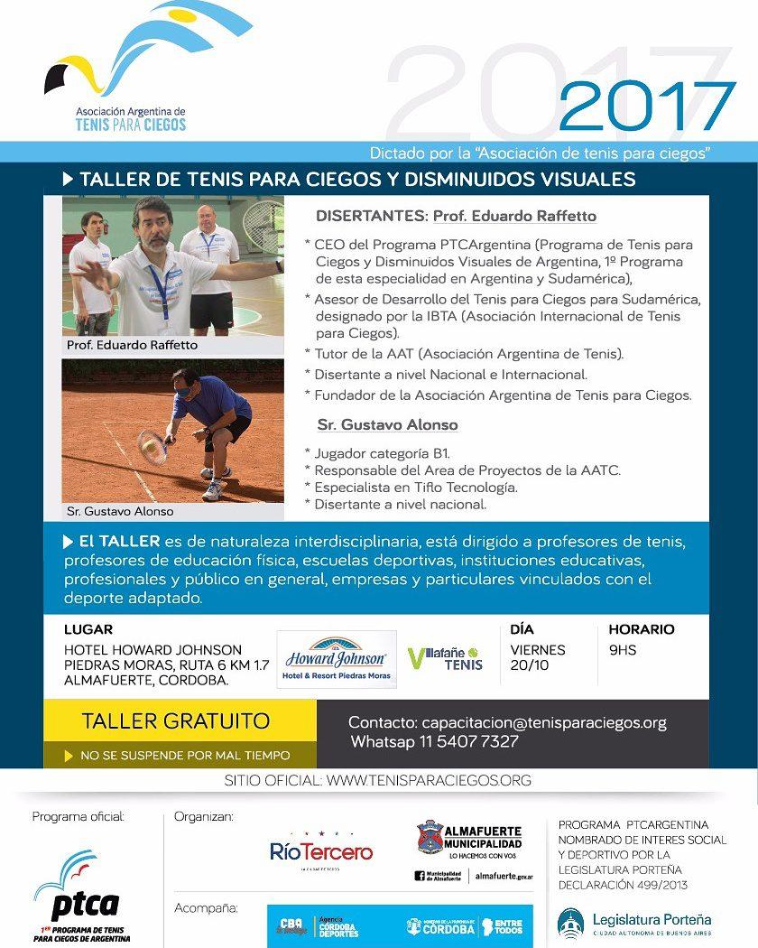 Tenis para ciegos: taller gratuito en Córdoba