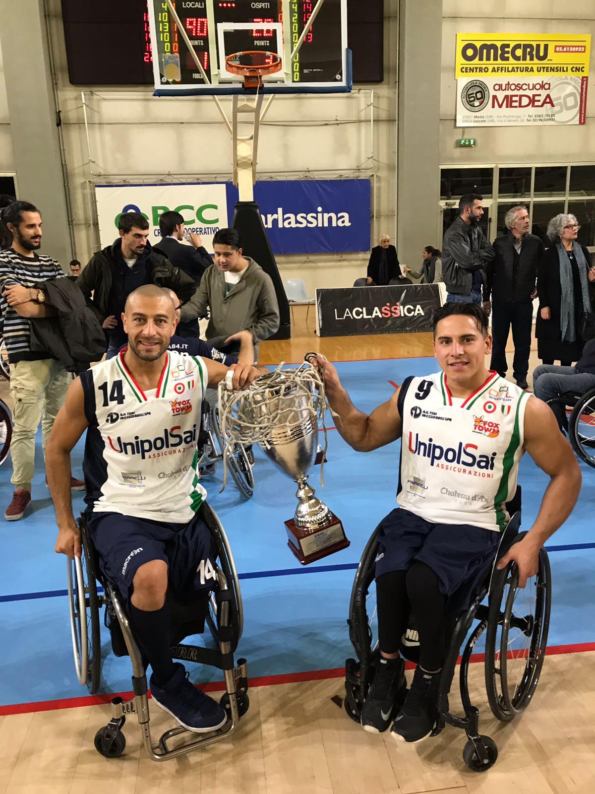 Básquet sobre silla de ruedas: Berdún y Esteche festejaron en Italia