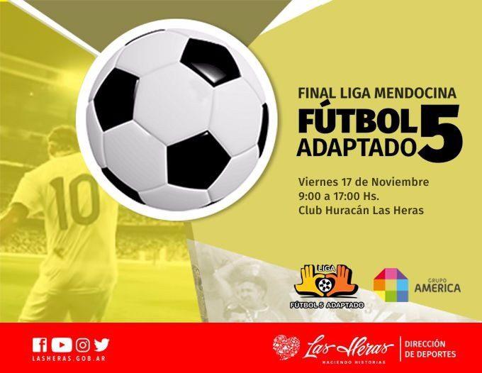 Mendoza define su liga de fútbol 5 adaptado