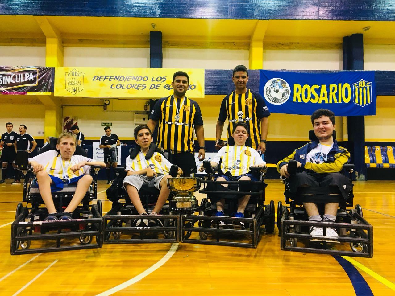 Powerchair football: Máquinas Guerreras de Rosario, campeón nacional