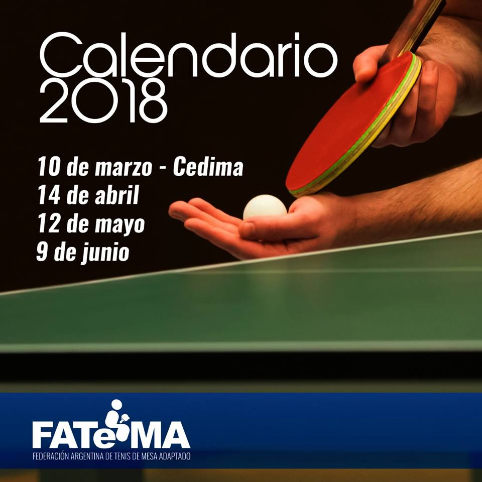 Tenis de mesa adaptado: confirmado el calendario local