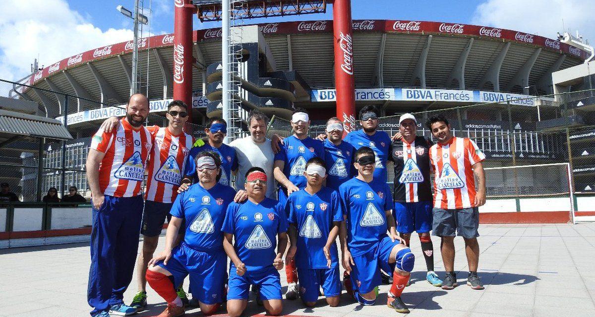 Fútbol para ciegos: Paradeportes Cañuelas FC vuelve a los entrenamientos