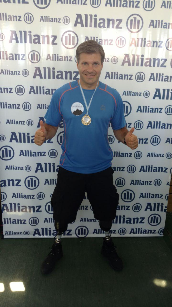 Pablo Giesenow, el atleta doble amputado que escalará el Aconcagua