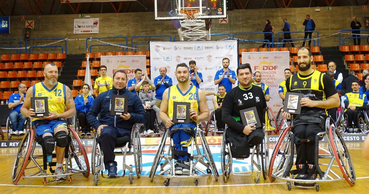 Básquet en silla de ruedas: Gustavo Villafañe, en el quinteto ideal de la Copa del Rey