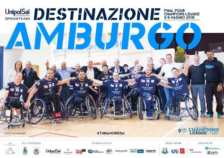 Básquet sobre silla de ruedas: el Briantea de Berdún y Esteche, finalista de la Copa de Campeones de Europa