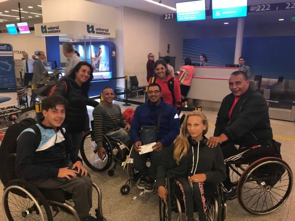 Tenis adaptado: la delegación argentina viajó a Chile