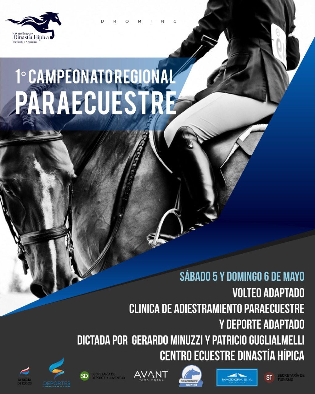 Paraecuestre: campeonato regional en La Rioja