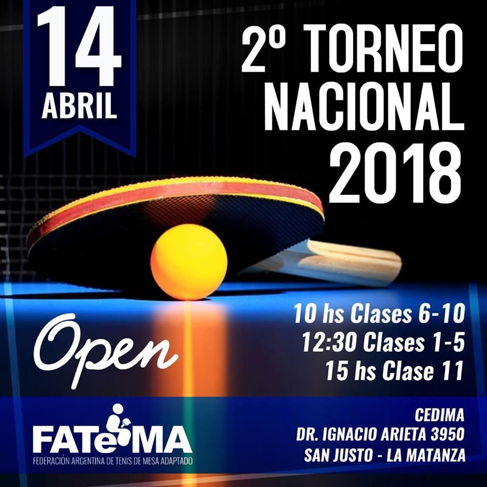 Tenis de mesa adaptado: se viene la segunda fecha del Torneo Nacional