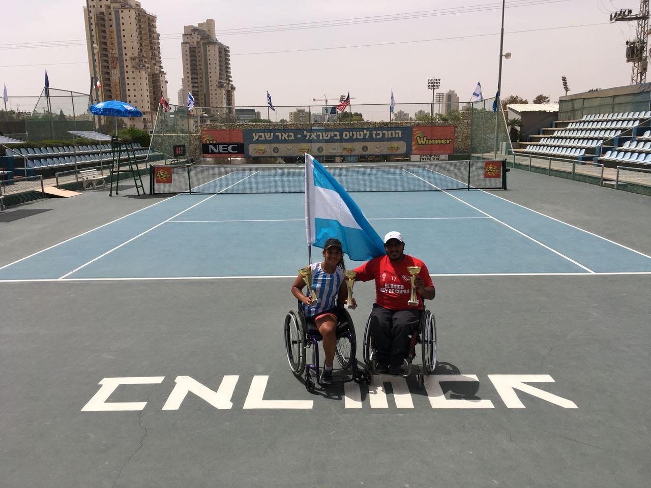 Tenis adaptado: Ledesma y Moreno, campeones en Israel