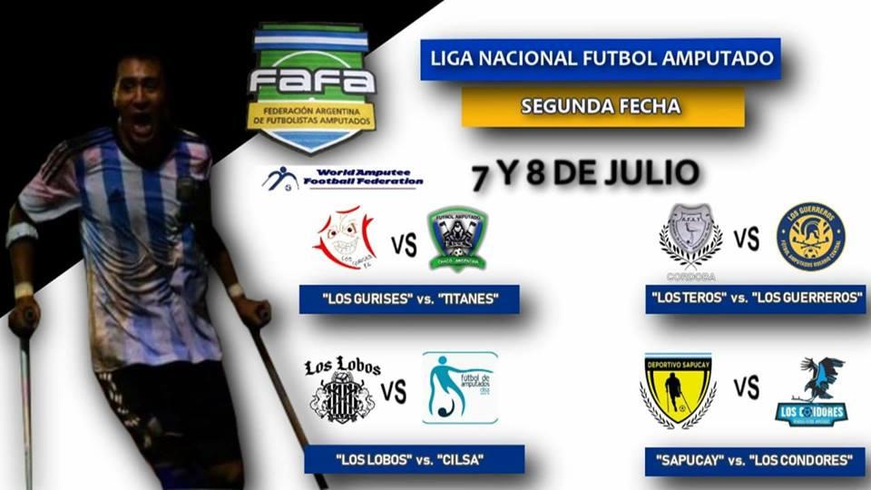 Fútbol para amputados: se viene la segunda fecha de la Liga Nacional
