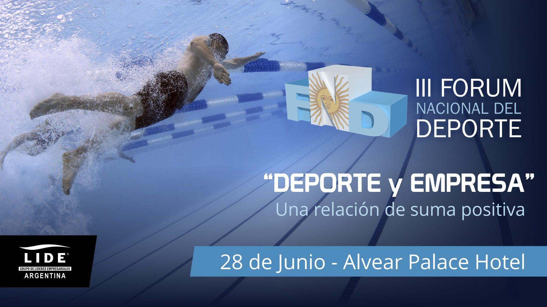 Se viene el 3° Fórum Nacional del Deporte, con espacio para las disciplinas paralímpicas