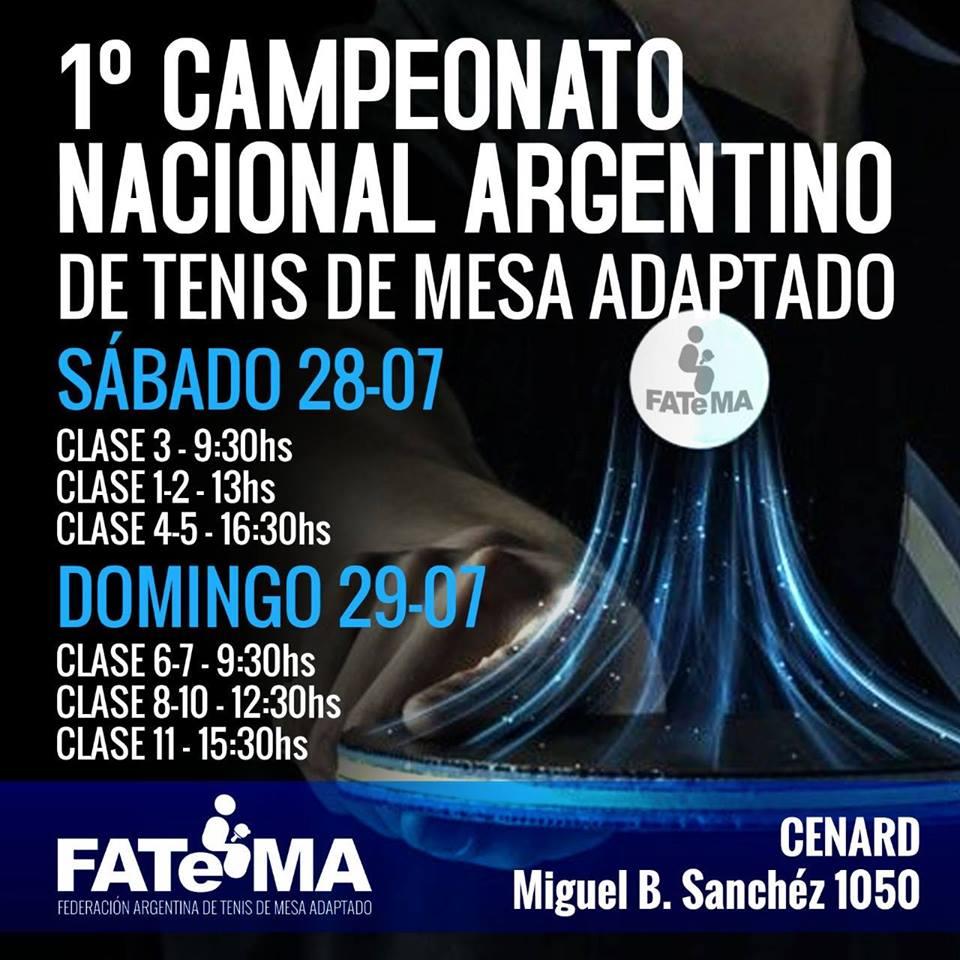 Tenis de mesa adaptado: se viene el 1° Campeonato Nacional
