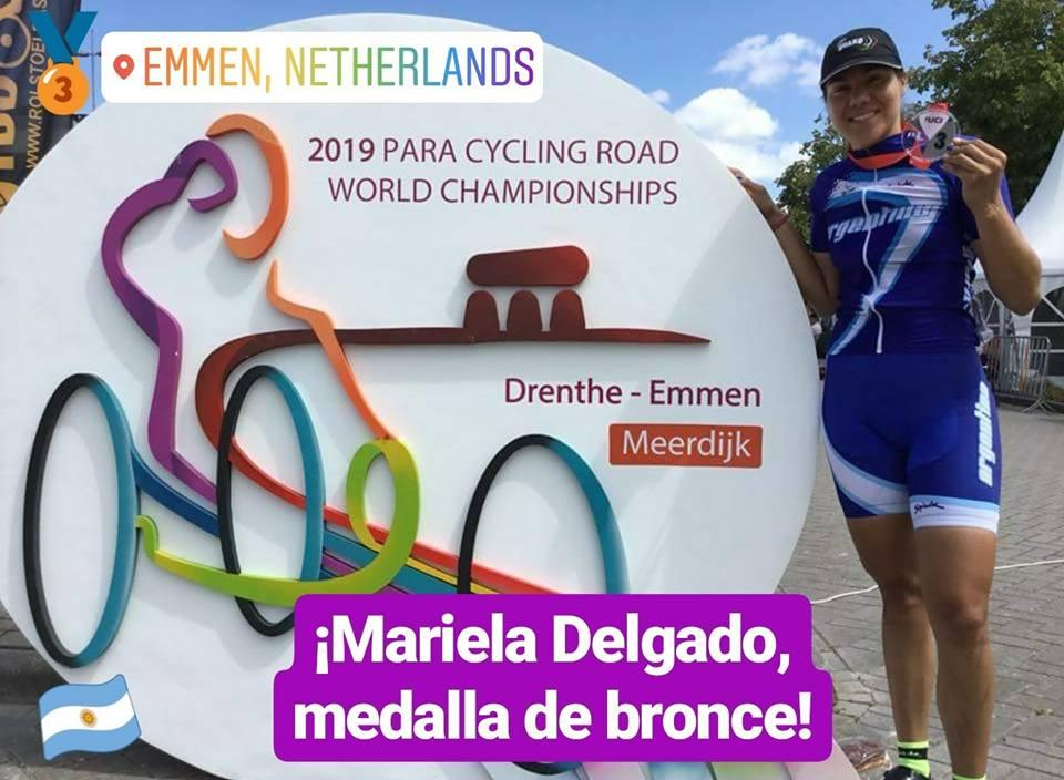 Paraciclismo: Mariela Delgado, medalla de bronce en Holanda