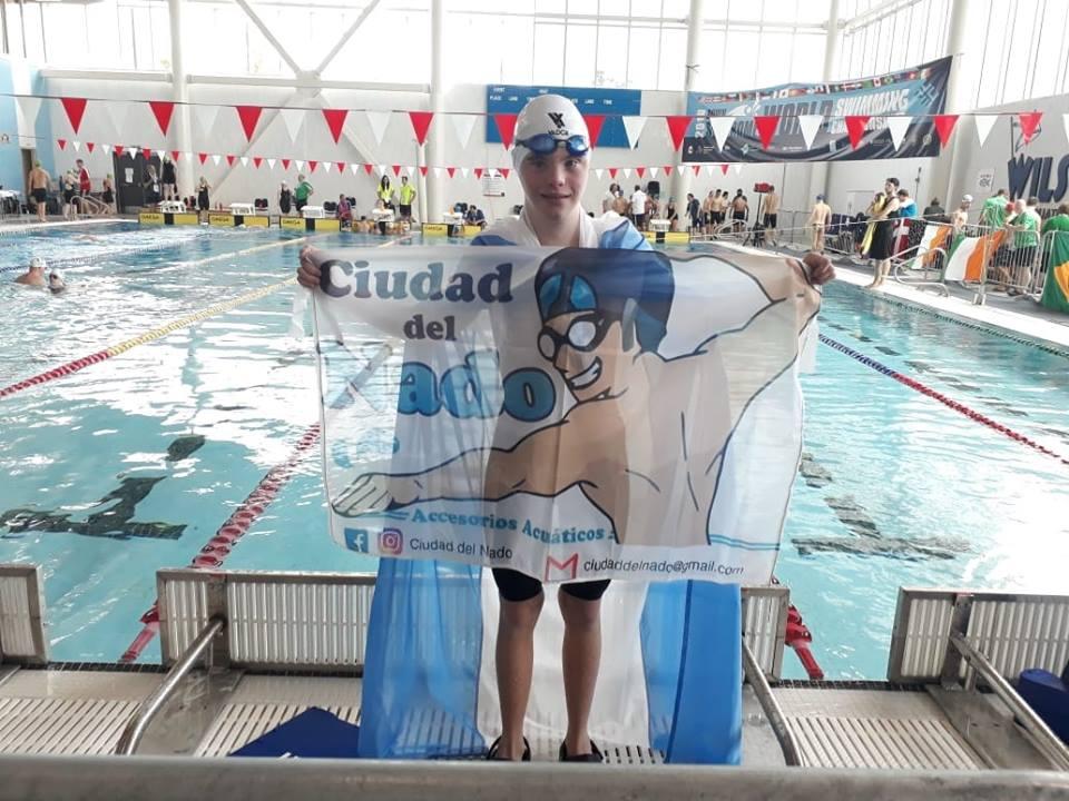 Agustín Bertolotto, medalla plateada en el Mundial de Deportes Acuáticos para personas con síndrome de down