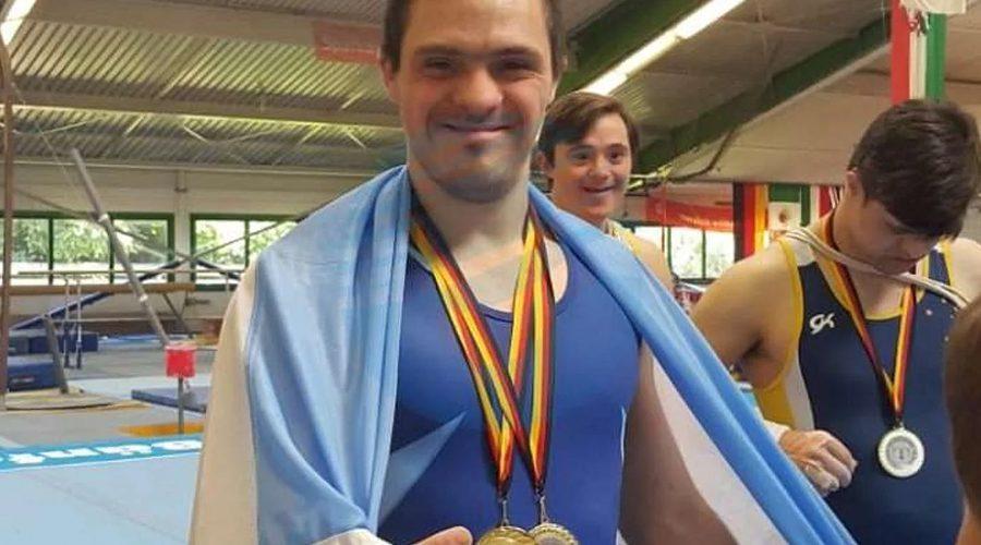 Gimnasia deportiva para personas con sídrone de down: Alarcón brilló en Alemania