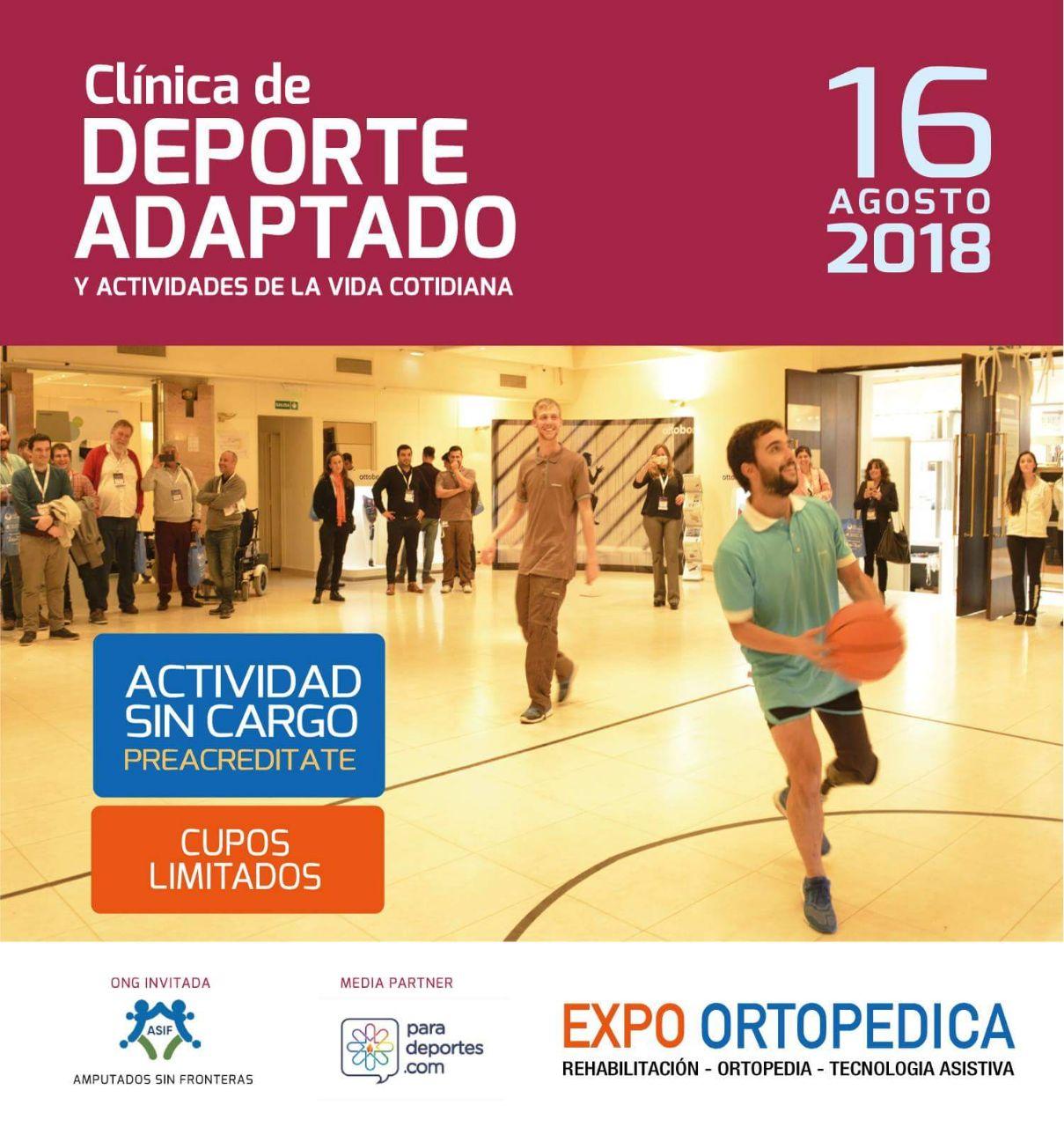El deporte adaptado tendrá su espacio en la 8va. Expo Ortopédica
