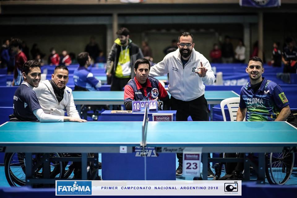 Tenis de mesa adaptado: seis nuevos campeones nacionales