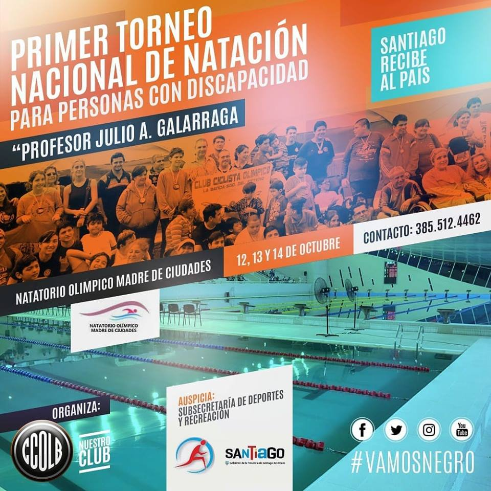 Natación: Santiago del Estero se prepara para el Torneo Nacional para personas con discapacidad