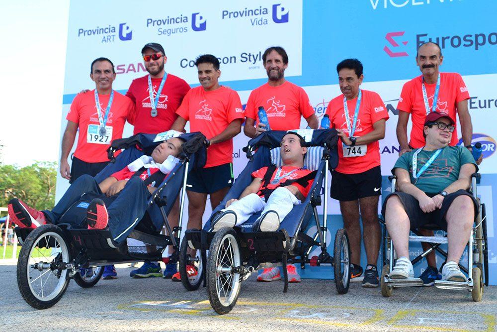 Atletas con discapacidad participaron de la Media Maratón de Buenos Aires