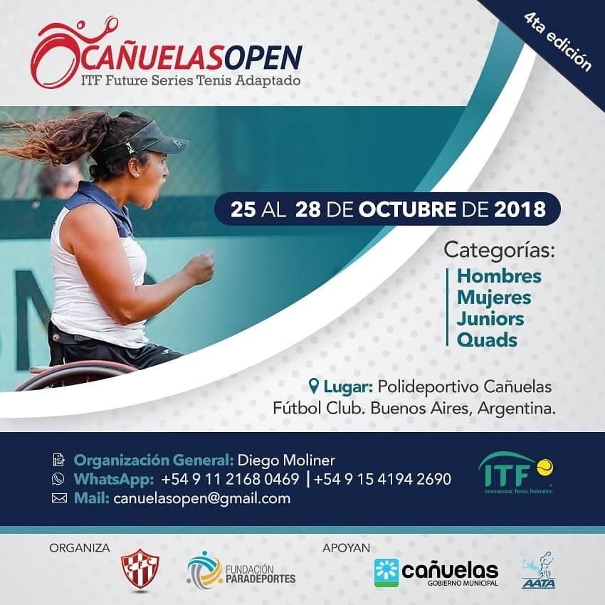 Tenis adaptado: se viene el Cañuelas Open 2018
