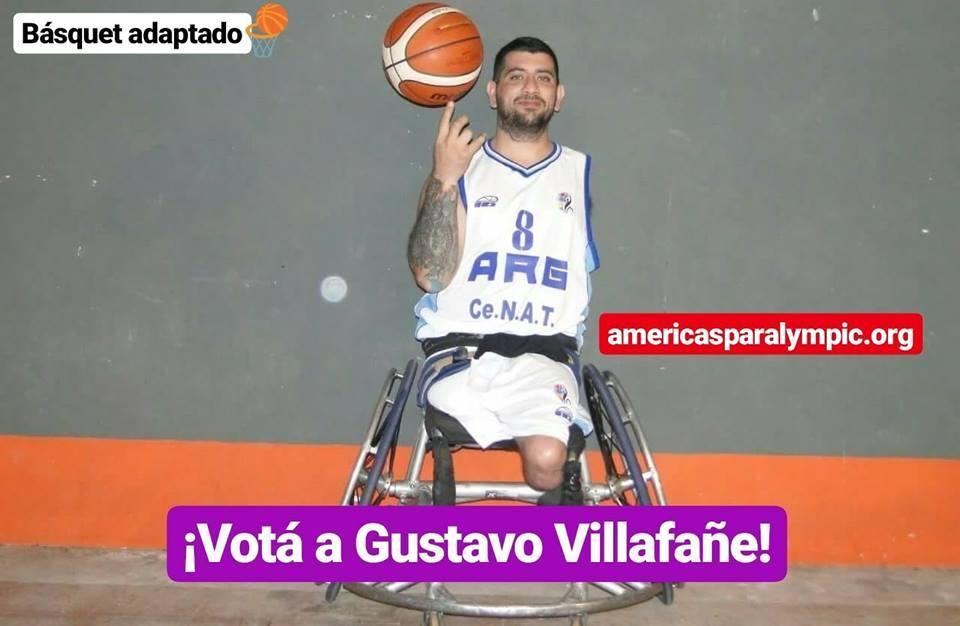 Básquet adaptado: Gustavo Villafañe, candidato a deportista paralímpico americano de agosto