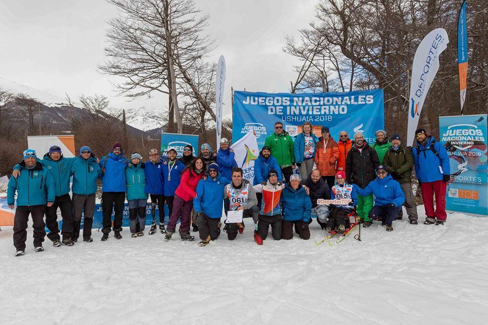El deporte adaptado tuvo su debut en los Juegos Nacionales de Inviernos en Tierra del Fuego