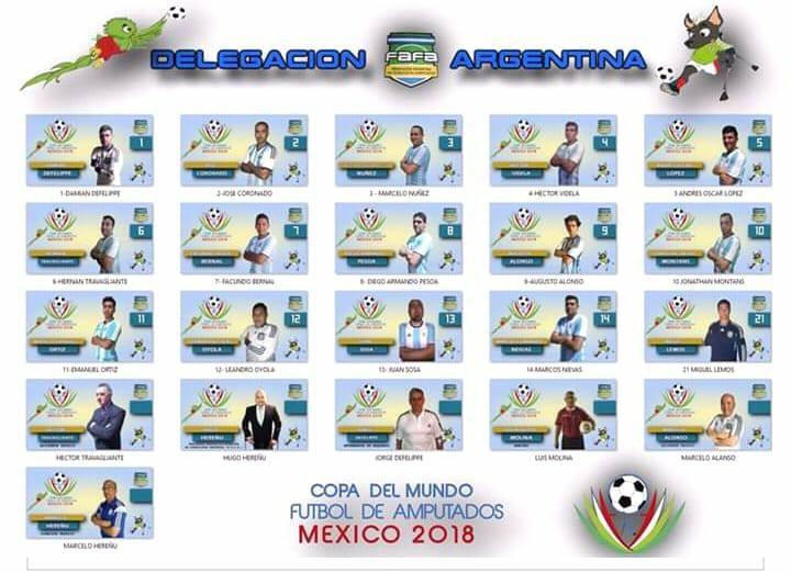 Fútbol para amputados: la Selección Argentina ya tiene el plantel para el Mundial