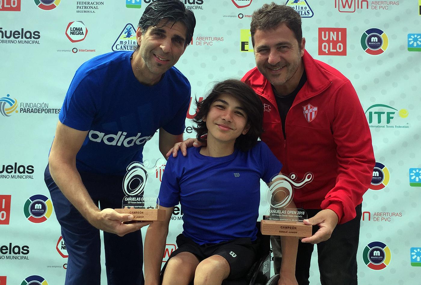 Tenis adaptado: João Takaki, camepón juvenil del Cañuelas Open 2018