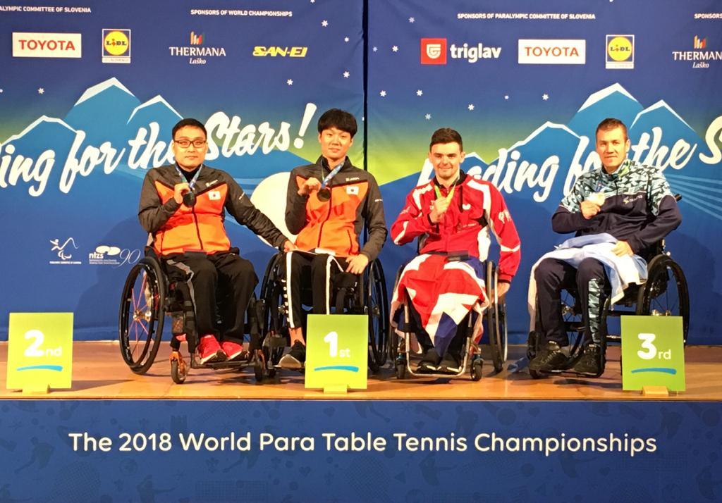Tenis de mesa adaptado: Eberhardt, medalla de bronce en el Mundial de Eslovenia