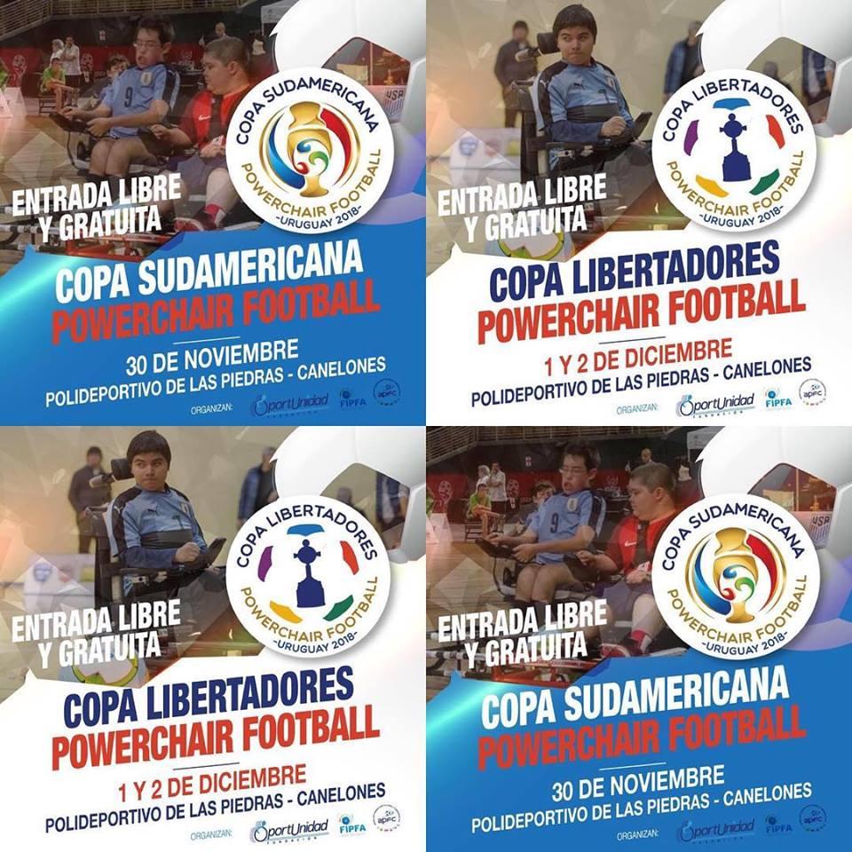 Powerchair football: se juegan la Copa Sudamericana y la Libertadores en Montevideo